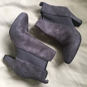 BCBGeneration Suede Dolan Heeled Ankle Boots